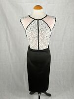 Ladies Dress Size 22 DPs Black Pink Lace Wiggle Party Evening Wedding