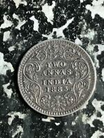 1883 India 2 Annas Lot#L5654 Silver!