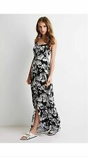 Dress- long len, black/white, forever21, M Size