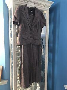 mymichelle Pant Suit Separates Brown NWT Jacket XL Pants Size 13