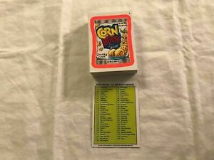 2012 Topps Wacky Packages ANS 9 Orange Border Parallel Trading Card Set of 55
