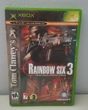 Xbox Rainbow Six 3 Squad Based Counter Terror Tom Clancys No Manual