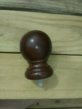 "NEW WOOD FINIALS 1-3/8"" WALNUT FOR POST FINIAL OR CAP BY STYLE SELECTION"