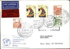 Schiffspost Brief Eilzustellung Schiff MS EUROPA mit hohem Frankatur-Wert 1987