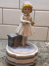 Schmid Nurse Music Box A Spoon Full Of Sugar Hand Painted Ceramic Musical Gift