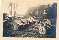 Nr. 29221 Foto 2,Wk Tomaszów Lublin Beutesammelstelle Panzer Geschütz Polen
