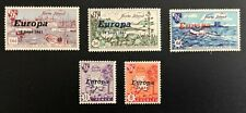 Herm Island Nice Lot Of Europa Overprints 18 Sept 1961 Stamps 5 Different