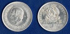 MONETA DA 5 PESOS ARGENTO 1952 MESSICO MEXICO SILVER SILBERMüNZEN PLATA