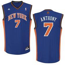 NBA Trikot New York Knicks Carmello Anthony Jersey Revolution30 blau Basketball