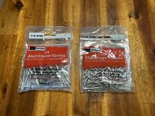 """New listing 2 Packages of Craftsman Aluminum Rivets, Diameter - 5/32"""" & 1/8"""", Nos"""