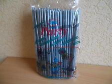 100 JUMBO Trinkhalme - Strohhalme mit Knick - 255x8 mm - silber oder schwarz