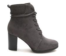 kayla Womens Black BIker Boots UK 7 EU 41 LN02 85
