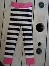 Leggings rose à paillettes rayé noir et blanc H&M Taille 3/4 ans 104 cm