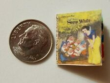 Miniature dollhouse Disney Princess book Barbie 1/12 Scale Snow White
