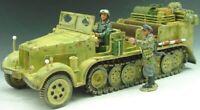 KING & COUNTRY WW2 GERMAN ARMY WS052 PRIME MOVER HALFTRACK SET MIB