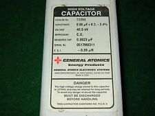 MAXWELL/GENERAL ATOMICS HIGH VOLTAGE CAPACITOR,40KV,0.06uF