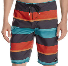 E1198 • O'neill Santa Cruz Stripe Board Shorts • NWT Mens 36 Multi Stripe #26908