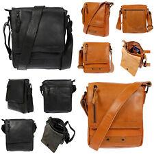 Echt Leder Herren Damen Umhängetasche Tasche RFID Schutz Schultertasche Umhänger