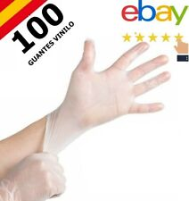 100 GUANTES DESECHABLES VINILO PROTECCION VIRUS NO POLVO SIN LATEX (TALLA XL )