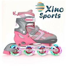 XinoSports Adjustable Kids Inline Skates for Girls & Boys with Light Up Wheel.