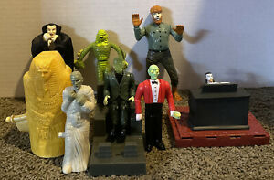 UNIVERSAL MONSTERS ~ WOLFMAN-LAGOON CREATURE-MUMMY ~ 1999 Jack in the Box Toys +