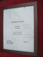 SIGNED BY CORMAC MCCARTHY & SCREENWRITER  FILM SOUVENIR - ALL THE PRETTY HORSES