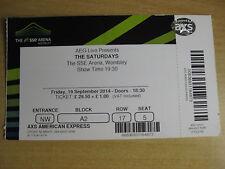 THE SATURDAYS  LONDON  19/09/2014 TICKET