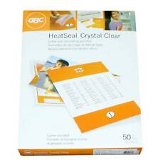 New 10mil GBC HeatSeal Crystal Clear Letter Size Pouches - 50pk - Free Shipping