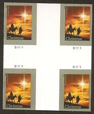 US 4813a Christmas Holy Family imperf NDC cross gutter block MNH 2013
