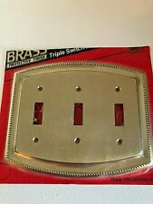 Gatco Solid Brass Triple Switch Plate Gatco Pearl Collection 610F New Old Stock