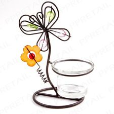 PRETTY BUTTERFLY CANDLE TEA LIGHT HOLDER Garden Table Decor Glass Votive Rustic