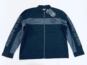 Harley Davidson Copperblock Jacket Full Zip Black Gray Colorblock Men's Size XL
