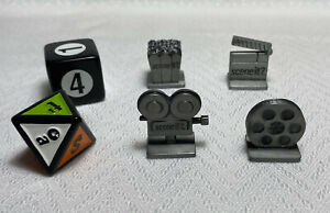 2005 Scene It? Movie Edition Replacement Parts Pieces 4 Tokens & 2 Dice