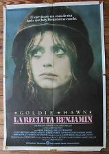 Used - Cartel de Cine  LA RECLUTA BENJAMIN  Vintage Movie Film Poster