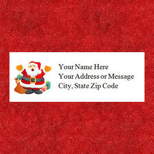 "60 Personalized  Christmas Santa Address Labels  1"" x 2.625"" FREE SHIPPING"