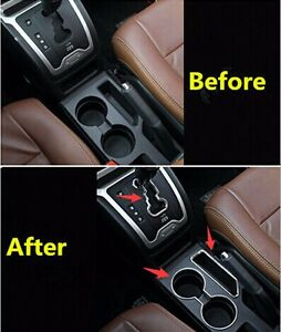 Fits Jeep Patriot Compass 2011+ Storage Box+Water Cup Holder+Gear Box Panel Trim