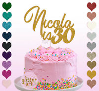30th Personalised Custom 30 Thirty Happy Birthday Cake Topper 18 20 40 50 60 70