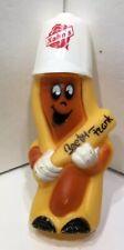Kahn's Beefy Frank Advertisement Yellow Hot Dog Mustard Dispenser Plastic Figure