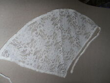 1 WHITE & ONE CREAM Cotton CANCER HEADWEAR  Bandanna LACE SCARF FREE UK SELLER