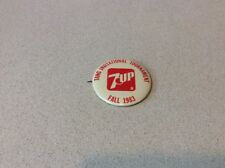 Vintage Tang 7 UP invitational tournament Pinback Button 1983