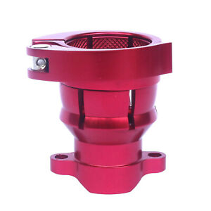 NEW Spyder clamping Feedneck Feed neck with Holes Aircraft Grade Aluminium- red
