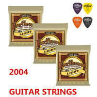 Ernie Ball 2004 Earthwood 80/20 Bronze Light Acoustic Guitar Strings 3 Pack