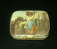 Lady With Basket On Her Head Small PILL TIN made in England