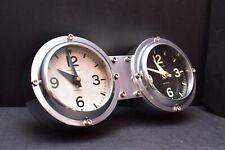 Pendulux Wall Clock Double Face Industrial Aviation Pilot airplane gauge Chrome