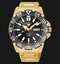 NEW MENS 100M SEIKO MINI MONSTER 24 JEWEL AUTOMATIC ANALOG SPORTS WATCH SRP490K1