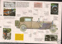 Hispano-Suiza H6 Limousine Coach Espagne Spain France 1920 Car Auto FICHE FRANCE