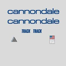 Cannondale Track Bicycle Frame Stickers - Decals - Transfers: Blue. n.4