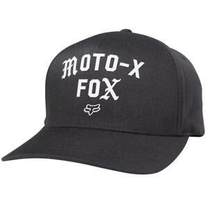 FOX Arch Curved Flex Fit Hat In Black Vintage Genuine FOX Cap