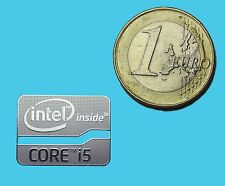 INTEL CORE i5 METALISSED CHROME EFFECT STICKER LOGO AUFKLEBER 21x16mm [536]