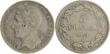 Pièces de monnaie de l'Europe en argent de Belgique